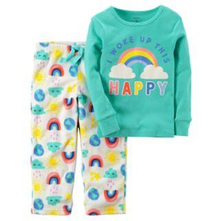 Toddler Girl Carter's 2-pc. Top & Fleece Pants Pajama Set