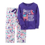 Toddler Girl Carter's 2-pc. Top & Fleece Pants Pajama Set