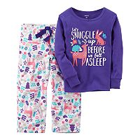 Toddler Girl Carter's 2 pc Top & Fleece Pants Pajama Set