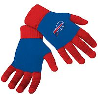 Adult Forever Collectibles Buffalo Bills Knit Colorblock Gloves