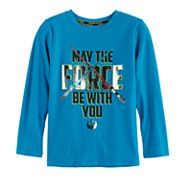 Boys 4-7x Star Wars a Collection for Kohl's Metallic 'May The Force Be With You' Tee