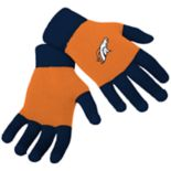 Adult Forever Collectibles Denver Broncos Knit Colorblock Gloves