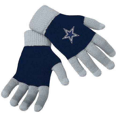 d114486d5be Adult Forever Collectibles Dallas Cowboys Knit Colorblock Gloves
