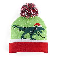Boys Holiday Light-Up Pom-Pom Hat