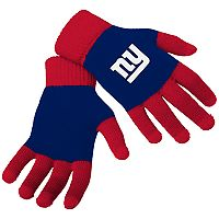 Adult Forever Collectibles New York Giants Knit Colorblock Gloves