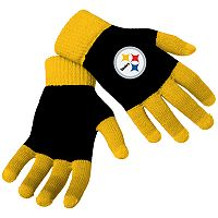 Adult Forever Collectibles Pittsburgh Steelers Knit Colorblock Gloves