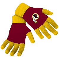 Adult Forever Collectibles Washington Redskins Knit Colorblock Gloves