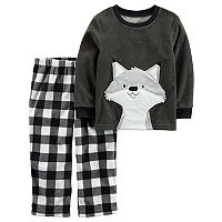 Baby Boy Carter's Animal Applique Top & Microfleece Bottoms Pajama Set