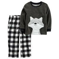 Toddler Boy Carter's Animal Applique Top & Microfleece Bottoms Pajama Set
