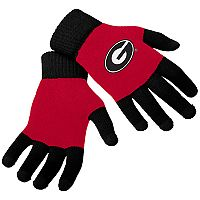Adult Forever Collectibles Georgia Bulldogs Knit Colorblock Gloves