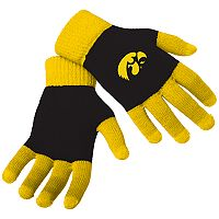 Adult Forever Collectibles Iowa Hawkeyes Knit Colorblock Gloves
