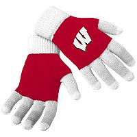 Adult Forever Collectibles Wisconsin Badgers Knit Colorblock Gloves