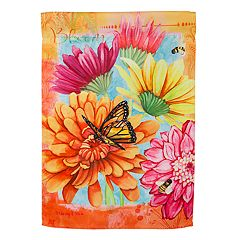 Evergreen 18' x 12.5' Colorful Flowers Indoor / Outdoor Garden Flag