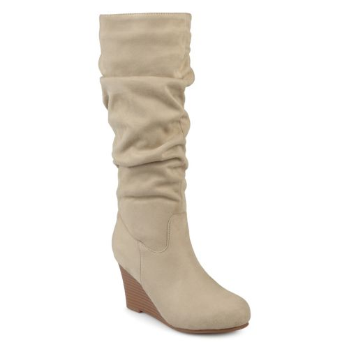 Journee Collection Haze ... Women's Wedge Slouch Knee High Boots