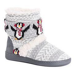 Women's MUK LUKS Holly Knit Boot Slippers
