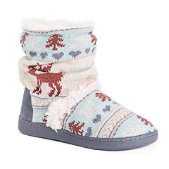 Women's MUK LUKS Holly Knit Boot Slippers