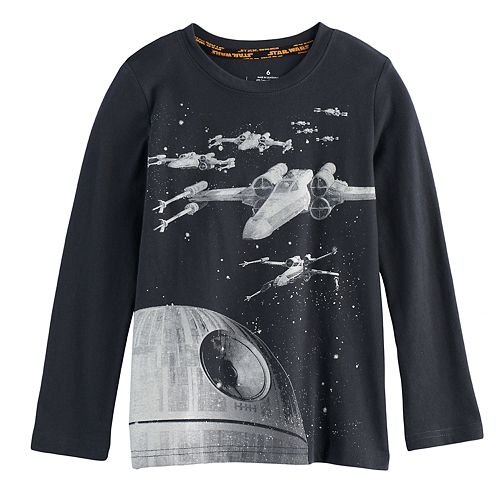 Boys 4-7x Star Wars a Collection for Kohl's X-Wing & Death Star Glow in the Dark Graphic Tee