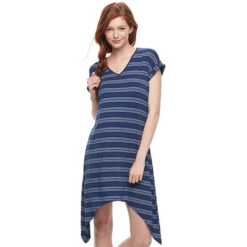 Juniors' Liberty Love Sharkbite Hem Dress