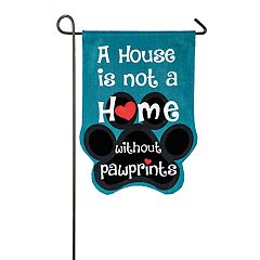 Evergreen Paw 'Home' Indoor / Outdoor Garden Flag