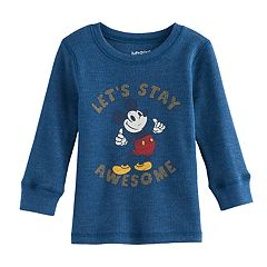 Disney's Mickey Mouse, 'Let's Stay Awesome' Baby Boy Thermal Tee by Jumping Beans®