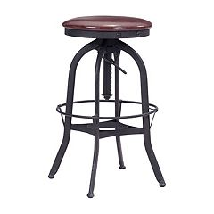 Zuo Modern Crete Adjustable Industrial Stool