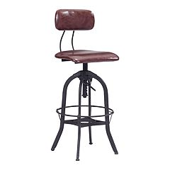 Zuo Modern Gering Industrial Adjustable Bar Stool