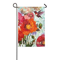 Evergreen Hummingbird 'Welcome' Indoor / Outdoor Garden Flag