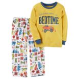 Baby Boy Carter's Graphic Top & Patterned Microfleece Bottoms Pajama Set