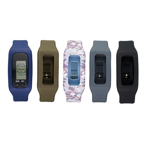 B-Fit Men's Activity Tracker & Interchangeable Band Set - BA5442BK599-078