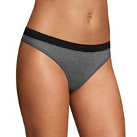 Maidenform Microfiber Heathered Thong Panty DMMSMT