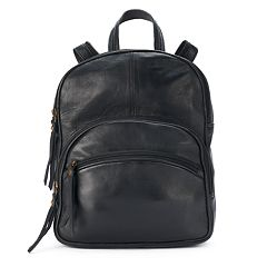d891707c0 R&R Leather Triple Zipper Small Leather Backpack