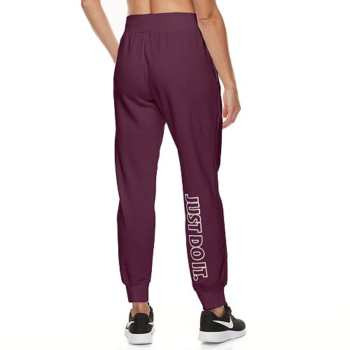 Women's Nike Cuffed Metallic Fleece Pants