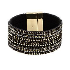 Black Magnetic Cuff Bracelet