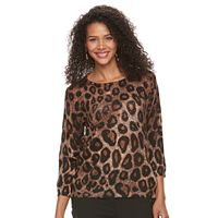 Women's Cathy Daniels Patterned Pullover Sweater