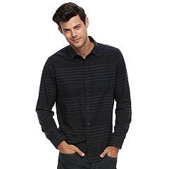 Big & Tall Apt. 9® Modern-Fit Plaid Brushed Flannel Button-Down Shirt