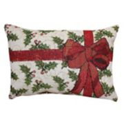 Park B. Smith Holiday Holly Present Oblong Throw Pillow