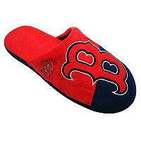 Men's Forever Collectibles Boston Red Sox Colorblock Slippers