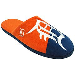 Men's Forever Collectibles Detroit Tigers Colorblock Slippers