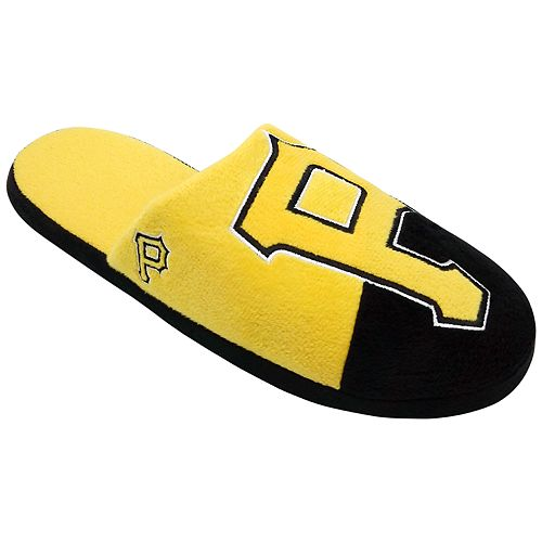 Men's Forever Collectibles Pittsburgh Pirates Colorblock Slippers