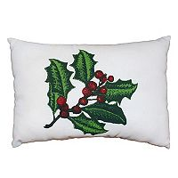 Park B. Smith Holiday Ivy Berries Oblong Throw Pillow