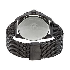 Drive From Citizen Eco-Drive Men's CTO Black Ion-Plated Stainless Steel Mesh Watch - BM6988-57E