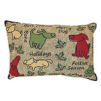 Park B. Smith Holiday Merry Dog Oblong Throw Pillow