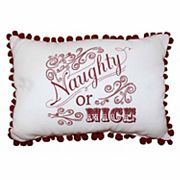 Park B. Smith Holiday ''Naughty or Nice'' Oblong Throw Pillow