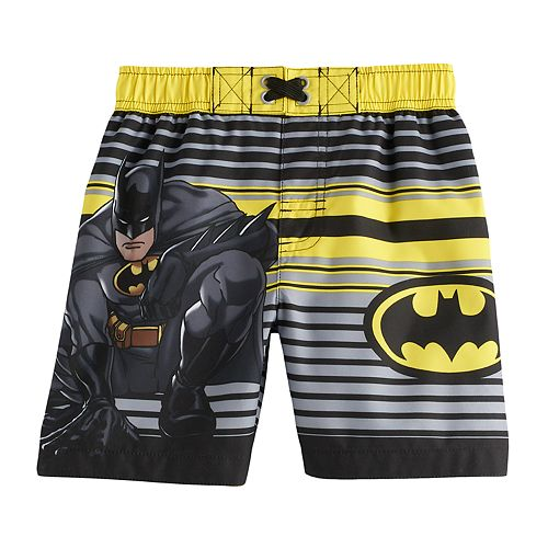 8ef903cd29 Toddler Boy DC Comics Batman Swim Trunks