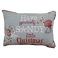 Park B. Smith Holiday ''Sandy Christmas'' Oblong Throw Pillow