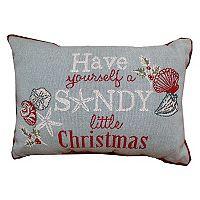 Park B. Smith Holiday ''Sandy Christmas'' Oblong Throw Pillow