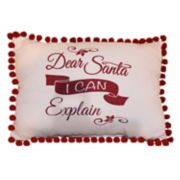 Park B. Smith Holiday ''Santa I Can Explain'' Oblong Throw Pillow