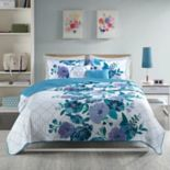 Intelligent Design Flora Coverlet Set