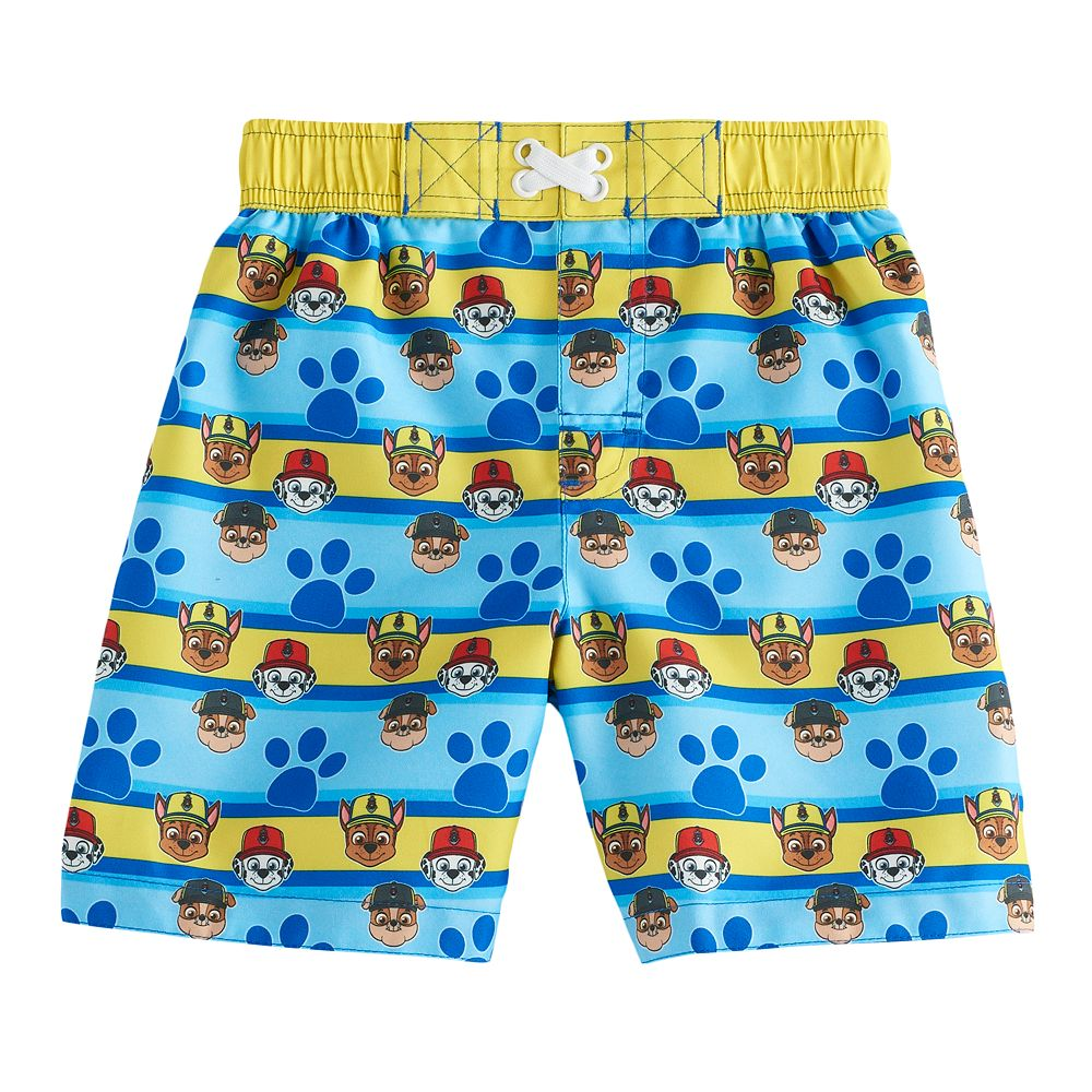 c236b6b7aac00 Toddler Boy Paw Patrol Chase, Rubble & Marshall Paw Print Swim ...
