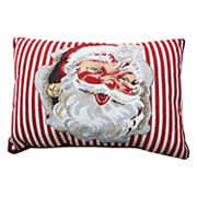 Park B. Smith Holiday Santa Cheer Oblong Throw Pillow